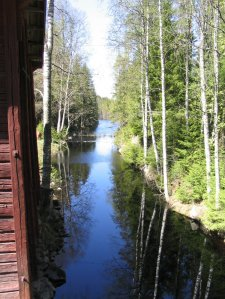 A river past a mill in Finland