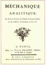 Cover of Lagrange's Mécanique analytique