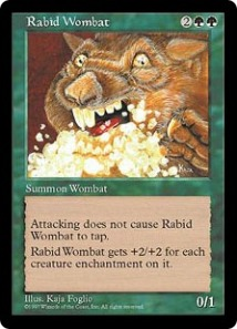 "M:tG card ""Rabid Wombat""; (c) WotC 1995-2010"